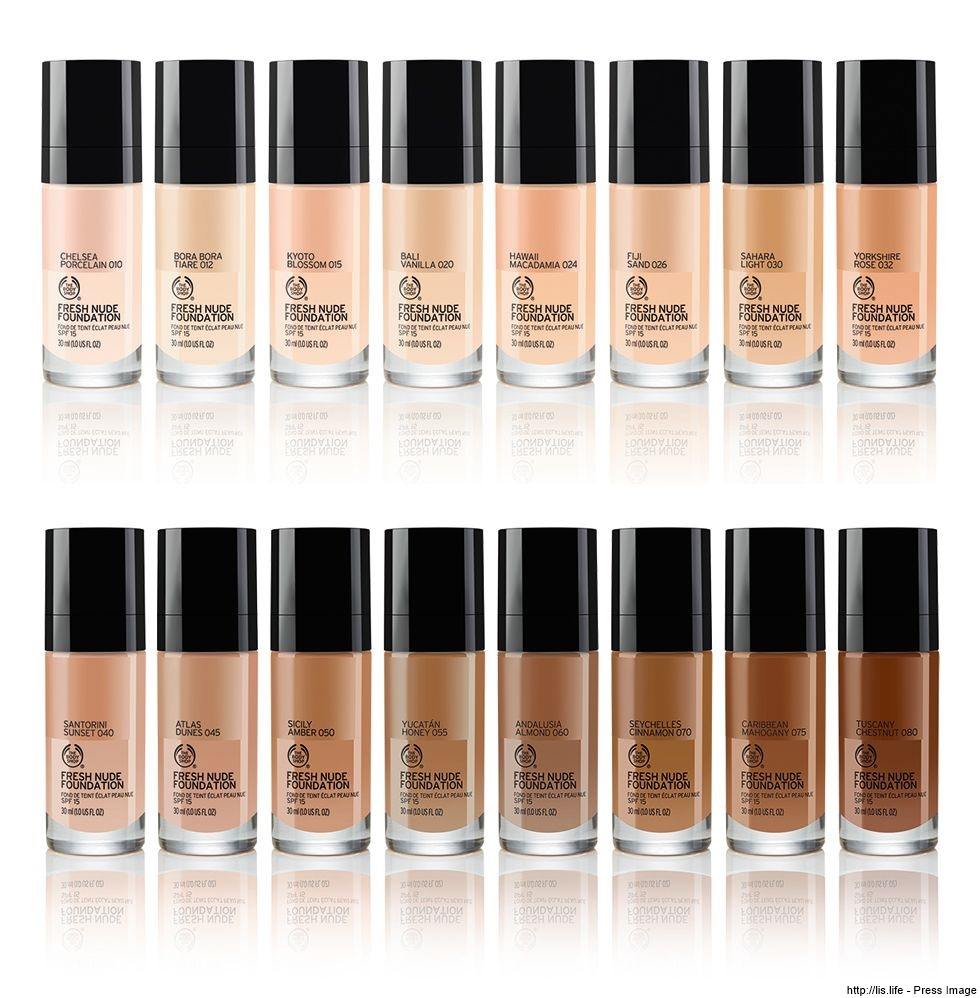 Bases in shades of Nude