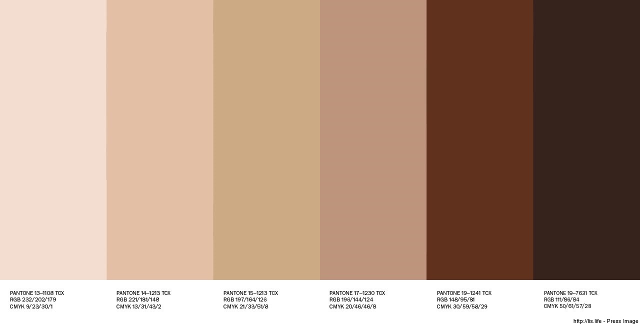 Shades of Nude-skin tones