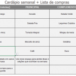 Cardápio Semanal Simples - Tela 1