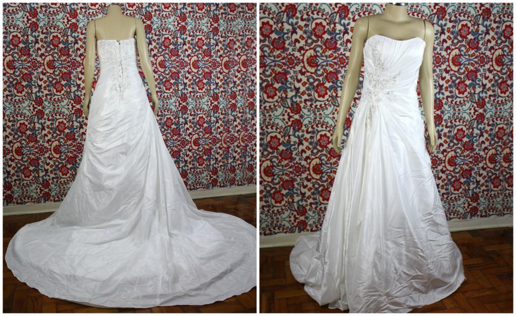 Ganhar vestido de noiva clássico