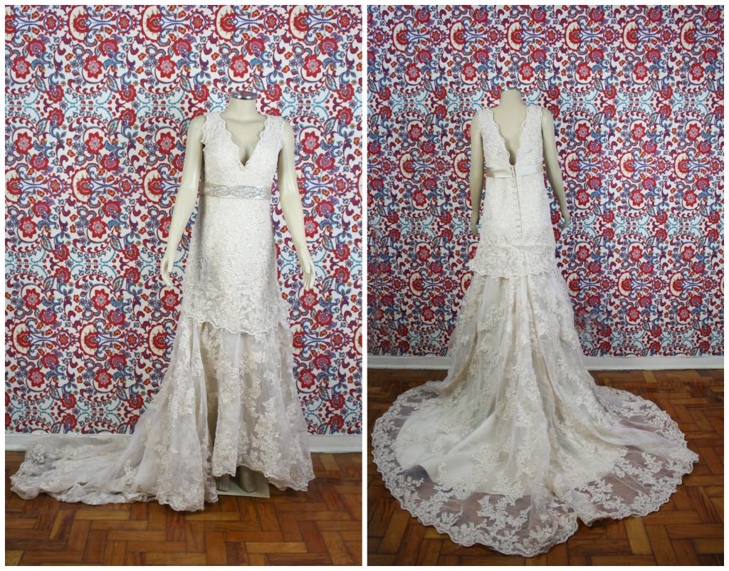 Ganhar vestido de noiva em renda